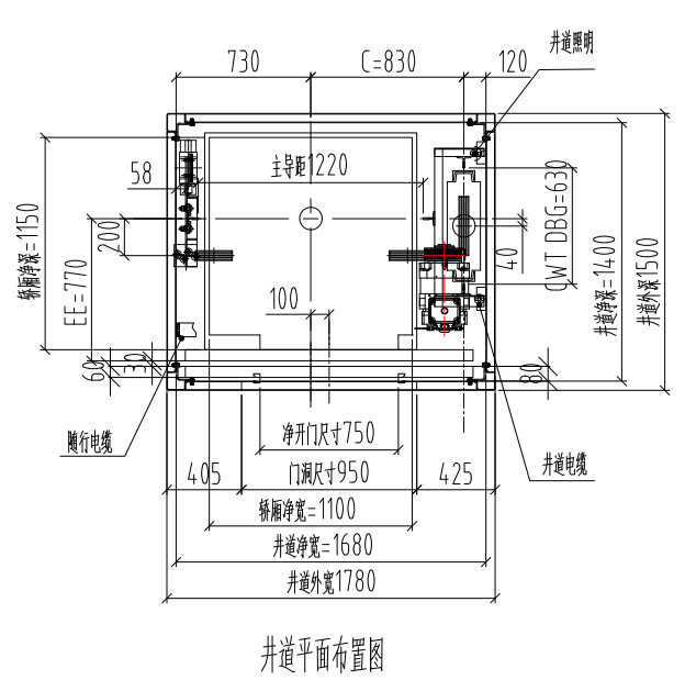 四川别墅电梯安装最小尺寸和相关规格