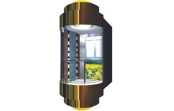 小型别墅家用液压观光电梯-带扶手稳定款