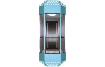 永磁同步观光电梯-四周玻璃包装