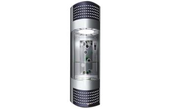 半圆型观光式别墅电梯-侧边开门款不占地方