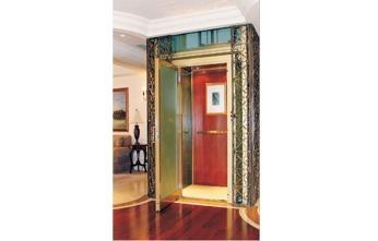 省空间手拉门液压家用电梯 可乘坐4人5人